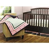 Bananafish Vineyard Collection 3 pc Baby Girl Crib Bedding Set Pink Ladybugs by Bananafish