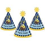 Construction Truck – Mini円錐ベビーシャワーまたは誕生日パーティー帽子 – スモールLittle Party Hats – 10のセット