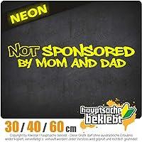 Not sponsored by mom and dad - 3つのサイズで利用できます 15色 - ネオン+クロム! ステッカービニールオートバイ