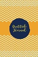 Gratitude Journal: Keep Up With Life's Blessings Gratitude Notebook Journal Diary Orange Chevron Stripes [並行輸入品]