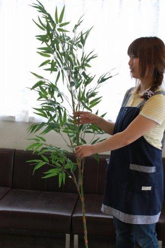山久 七夕飾りお盆に お手入れ簡単シルクフラワー 「笹竹」(特大 約180cm)CT触媒加工【造花】