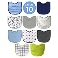 Neat Solutions Water Resistant Bib Set, Boy, 10ct