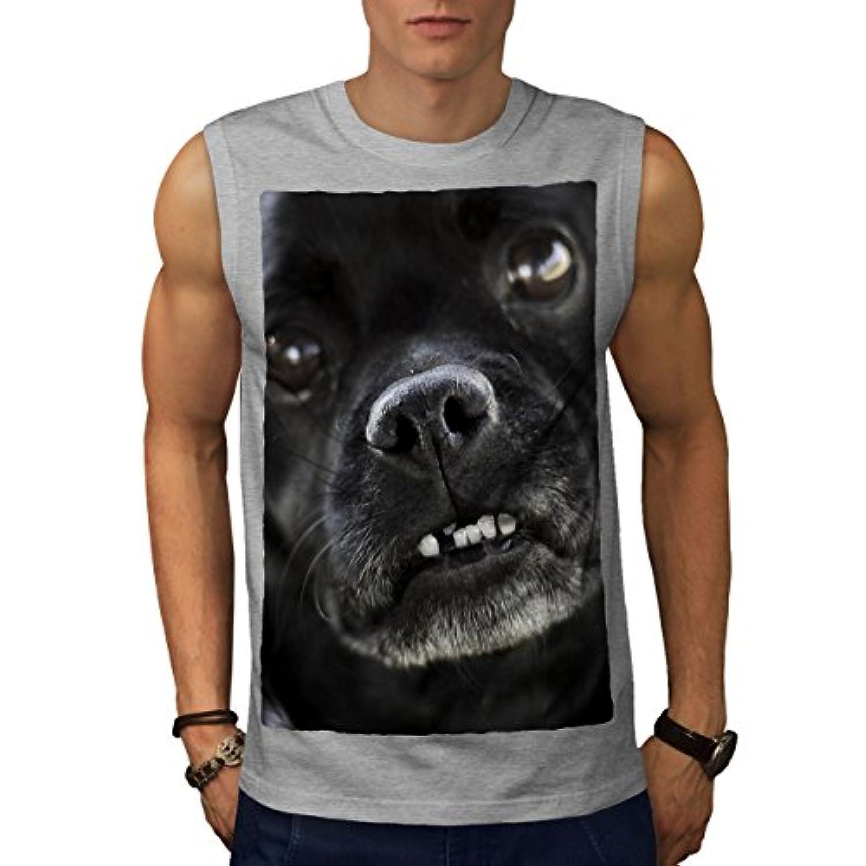 Wellcoda 犬 写真 可愛い 動物 男性用 S-5XL 袖なしTシャツ