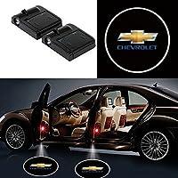 Alichee LED ドアカーテシランプ レーザーロゴライトドアウェルカムライト カーテシライト 2件套 (シボレー Chevrolet)