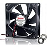Wathai 9225 92mm x 25mm 12V 2Pin Dual Ball Bearing DC Brushless Cooling case Fan