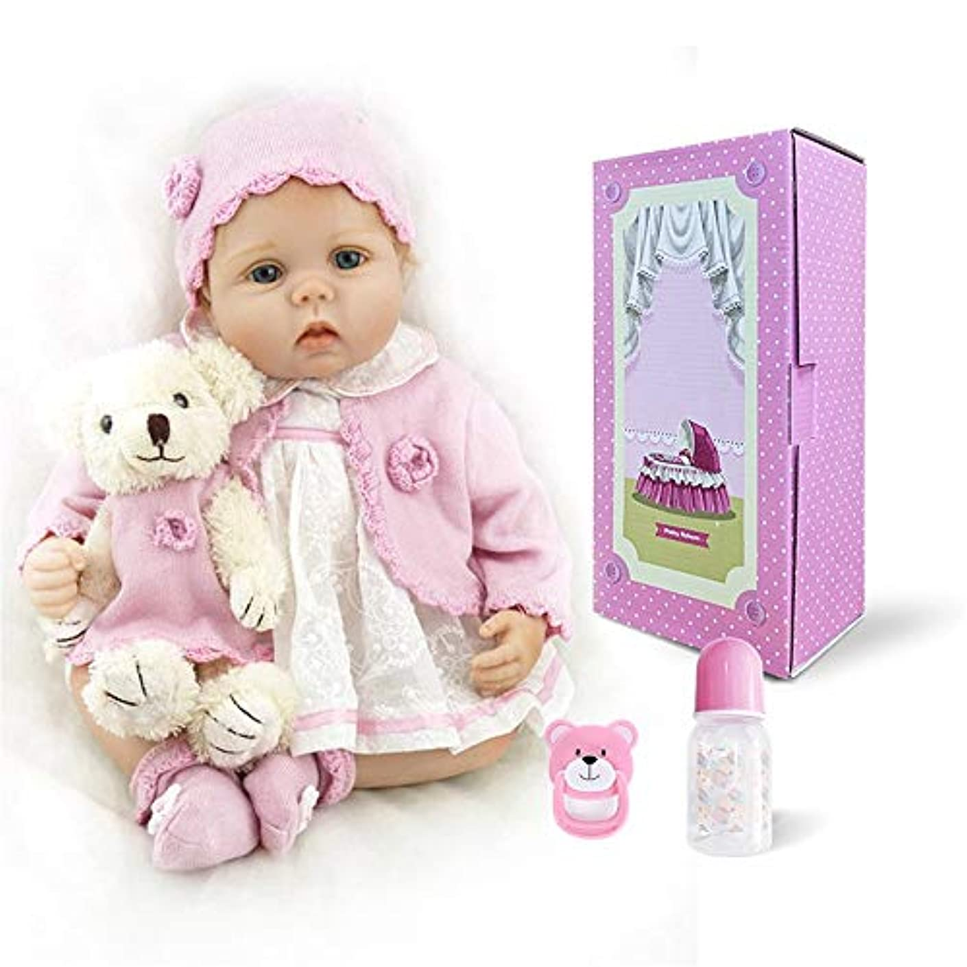 秘密の役に立たない役に立つ新生児ベビードールソフトシリコーンビニールのリアルな人形ベストギフト (Color : Photo Color, Size : 55cm)
