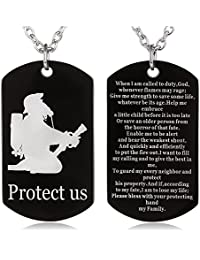 Firefighter on front and Firefighter's Prayer on Back,clear and beautiful image,the verse is easy to read.