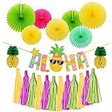 ChicSoleil 誕生日 飾り付け ペーパーフラワー ALOHA 風船 デコレーション おしゃれ 装飾