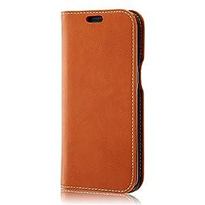レイ・アウト Galaxy S7 edge ケース 手帳型ケース 本革 キャメル RT-GS7ERLC1/K