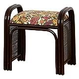 クロシオ ラタンラクラクスツール ハイタイプ 安心 手すり付き 補助 ラタン 玄関椅子 ベンチ 木製 椅子 022721