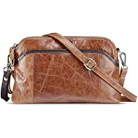 Lecxci Small Women's Soft Vintage Leather Crossbody Travel Smartphone Bag Wristlets Clutch Wallet Purse …