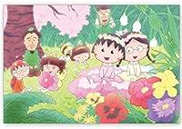 【ちびまる子ちゃん】ポストカード(まる子たまちゃんお花)☆CM-PT003