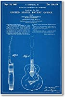 GretschギターPatent–新しい有名な発明青写真ポスター