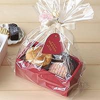 【バレンタイン ラッピング】【ラッピング用品】Box kit ボックスキットS(OPP袋・紐付きミニカード・リボン付きタイ・花付タイ付き) アイボリー(201)