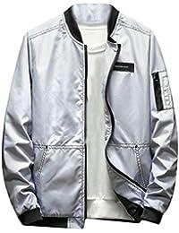 Keaac メンズウインドプルーフ軽量屋外softshell因果のボンバージャケット