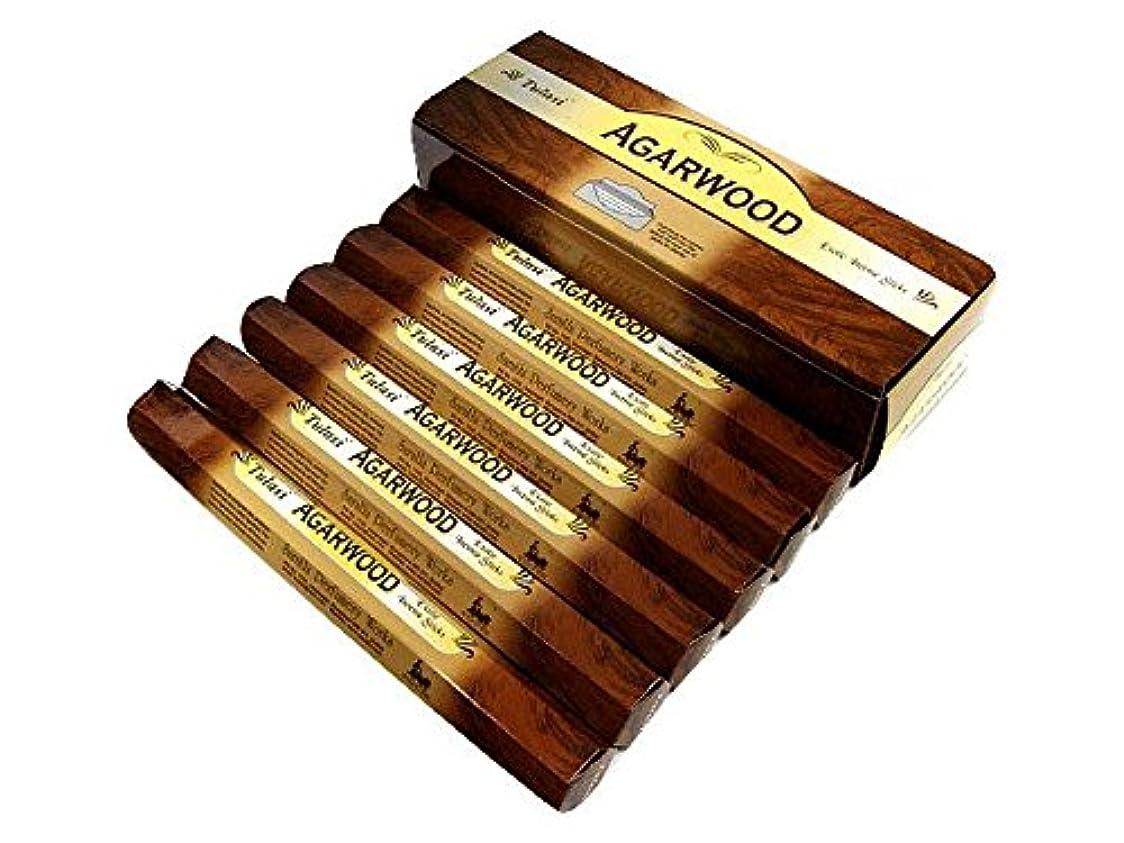 持続的ナット素人TULASI(トゥラシ) アガーウッド香 スティック AGARWOOD 6箱セット