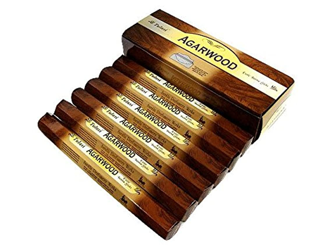 かりて順応性のあるできたTULASI(トゥラシ) アガーウッド香 スティック AGARWOOD 6箱セット