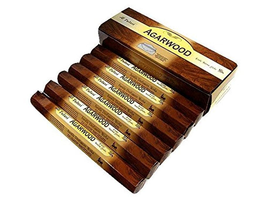 たるみガロンどうやらTULASI(トゥラシ) アガーウッド香 スティック AGARWOOD 6箱セット