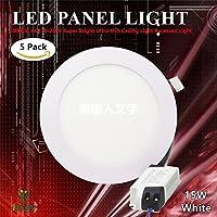 LEDパネルライト, 15w Round Panel Light 15w-R-W(5pcs)