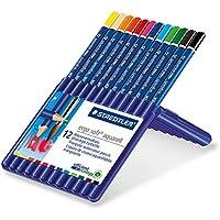 ステッドラー 色鉛筆 エルゴソフト 水彩 三角軸 12色 156SB12A6