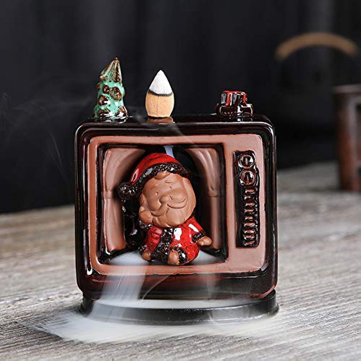 好きカロリー法律セラミックリフロー香炉香炉サンタクロースヨガ瞑想家の装飾や手工芸に適しています中国のクリスマスギフトスノーマン香炉クリスマス香炉11 * 6 * 14cm