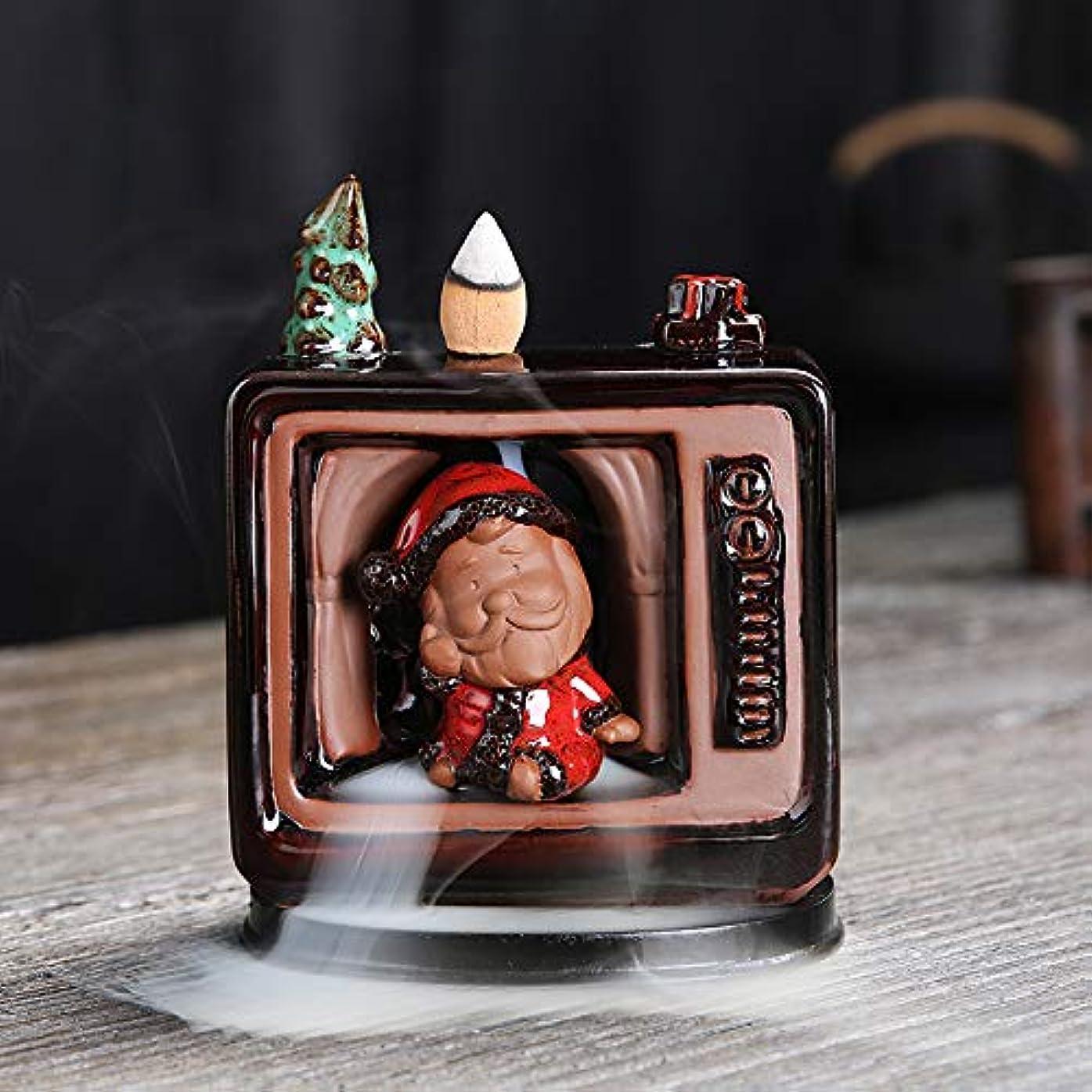 性別きちんとした安西セラミックリフロー香炉香炉サンタクロースヨガ瞑想家の装飾や手工芸に適しています中国のクリスマスギフトスノーマン香炉クリスマス香炉11 * 6 * 14cm