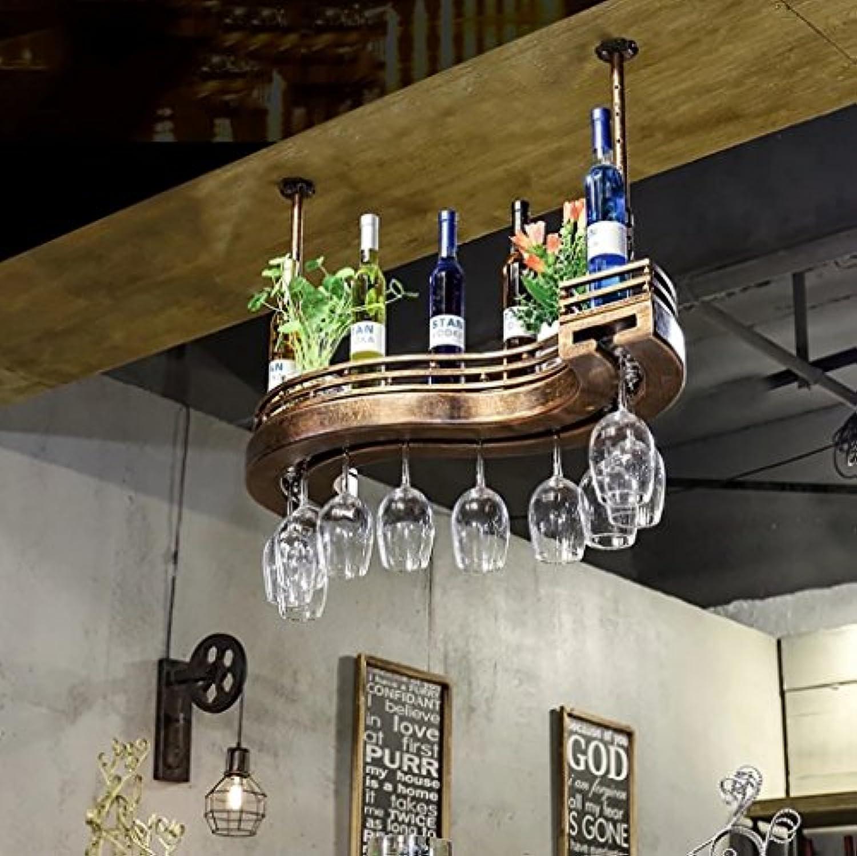 ワインラック、ワイングラスラック、バーウォールラック、ワイングラスラック、シェルフワイングラスホルダー、ワイングラスラック、ワイングラスラック、シャンパングラスラック、ガラス器具ラック (サイズ さいず : 80cm)