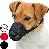 CollarDirect Adjustable Dog Muzzle Small Medium Large Dogs Set 2PCS Soft Breathable Nylon Safety Dog Mouth Cover Anti Biting