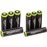 Amazonベーシック 充電池 充電式ニッケル水素電池 単3形4個セット (最小容量1900mAh、約1000回使用可能) & 充電池 充電式ニッケル水素電池 単4形4個セット (最小容量750mAh、約1000回使用可能)