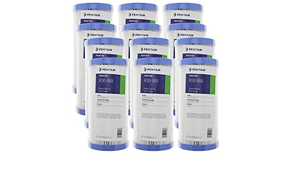 Pentek R30-BB 30 Micron Big Blue Heavy Duty 10x4.5 inch Sediment Filter 12 Pack