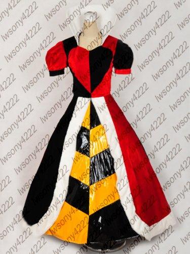 豪華限定版コスプレ衣装♪不思議の国のアリス ハートの女王 ハロウィン コスチューム、コスプレ