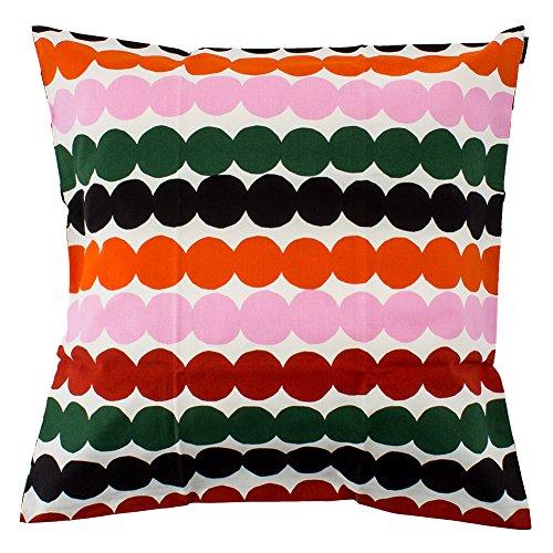 [ マリメッコ ] Marimekko クッションカバー 50×50cm ラシィマット Rasymatto Cushion Cover レッド/グリーン/ブラック white/red/green/black 067931-136 北欧 インテリア [並行輸入品]