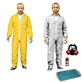 Mezco Toyz Breaking Bad : Jesse Pinkman in Yellow & White Hazmat Suitsアクションフィギュア