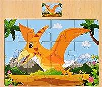 ジグソーパズルゲーム幼児玩具 高品質木製認知パズルアーリーラーニングおもちゃファンタスティックギフトキッズ(翼肺)