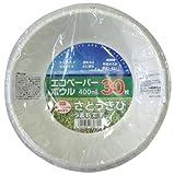 大和物産 紙皿 エコペーパー ボウル 400ml 30枚