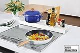コンロ奥カバー&ラック 日本製 排気口を油の汚れから守ります コンロラック コンロカバー コンロガード 隙間 すきま キッチン収納 日本製オリジナルメモセット
