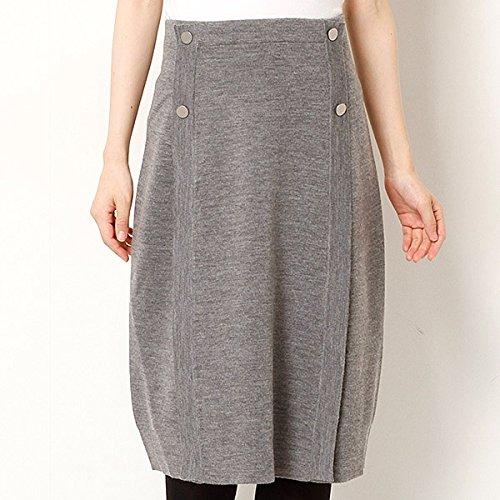 シップス(レディース)(SHIPS for women) ウールサイドボタンニットスカート【15グレー/1 SIZE】