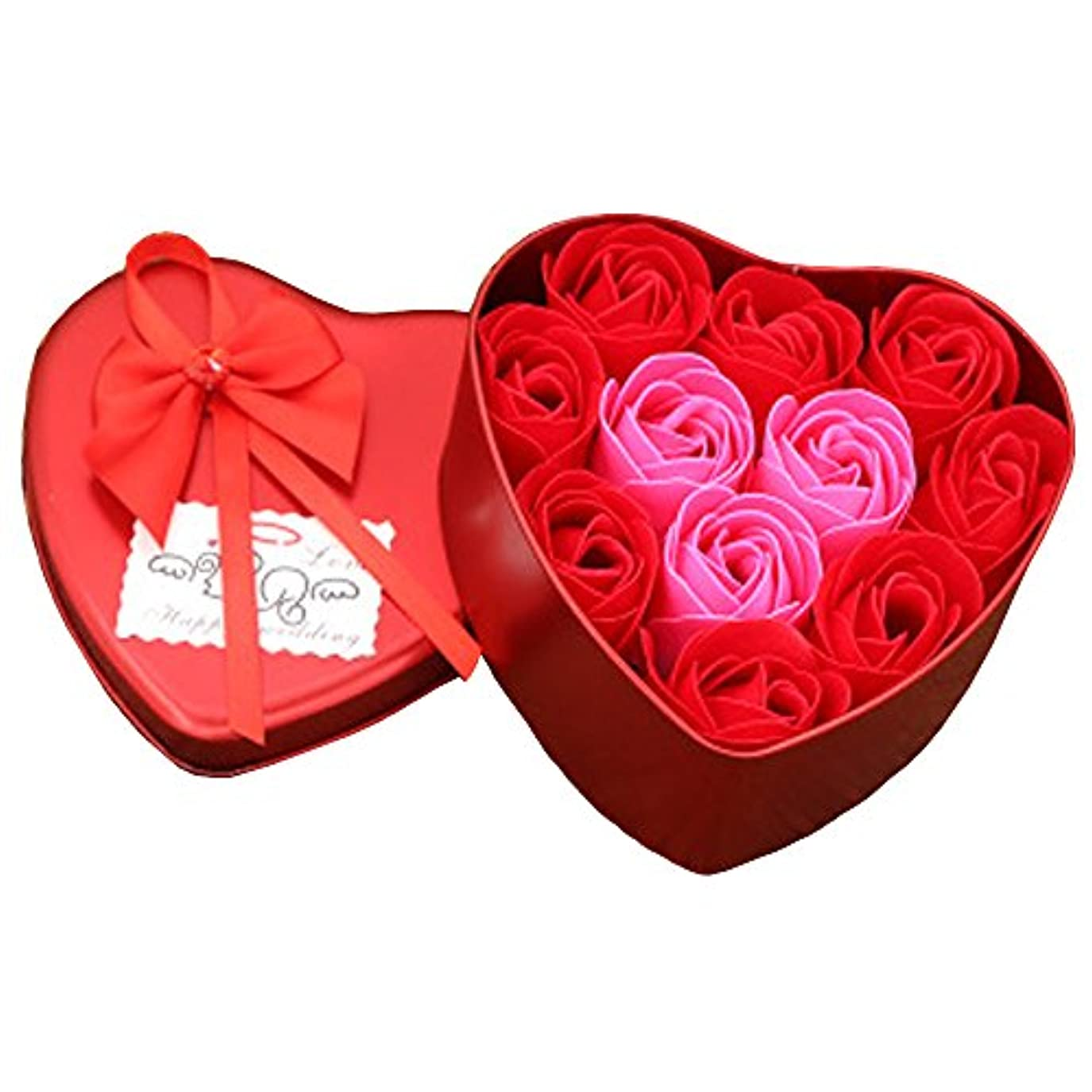 着替える構成員事前iCoole ソープフラワー 石鹸花 ハードフラワー形状 ギフトボックス入り 母の日 バレンタインデー お誕生日 ギフト