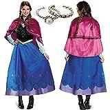 dress.V アナ雪 コスプレ ディズニー アナと雪の女王 ドレス【指輪2個付】 (M)