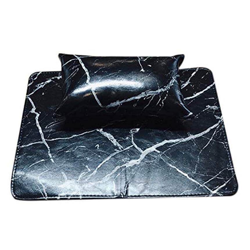 うぬぼれた記者非難TOOGOO マニキュアツール ソフトハンドクッション枕とパッドレストネイルアートアームレストホルダー マニキュアネイルアートアクセサリーレザー(2個 一体化)ブラック