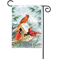 Cardinal Feeder Garden Flag