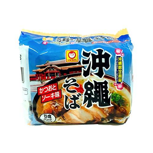 東洋水産 マルちゃん 沖縄そば 袋麺 かつおとソーキ味 1ケース (5食×6パック) 沖縄限定