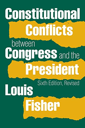 Download Constitutional Conflicts Between Congress and the President 0700619984