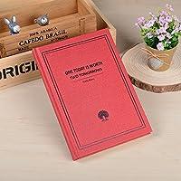 クリエイティブなシンプルな日記A5の目を肥厚させる学生ノートブックの文房具ハードコピービジネスメモ, concise red tree - medium