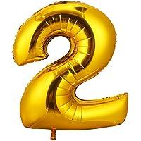 CCINEE 16inch 数字 風船 バルーン 誕生日 パーティー飾りに 2個セット (2)