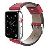 NIKE スポーツ Genuine Leather Replacement Band Strap 38mm / 42mm For Apple Watch Band IWatch Nike Sport Edition Series 1 2 3 [並行輸入品]