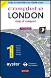 Complete London: Map of Transport (Buses, Trains, Tubes, Trams, Ferries and Places) Day and Night (All-on-One (Microscale))
