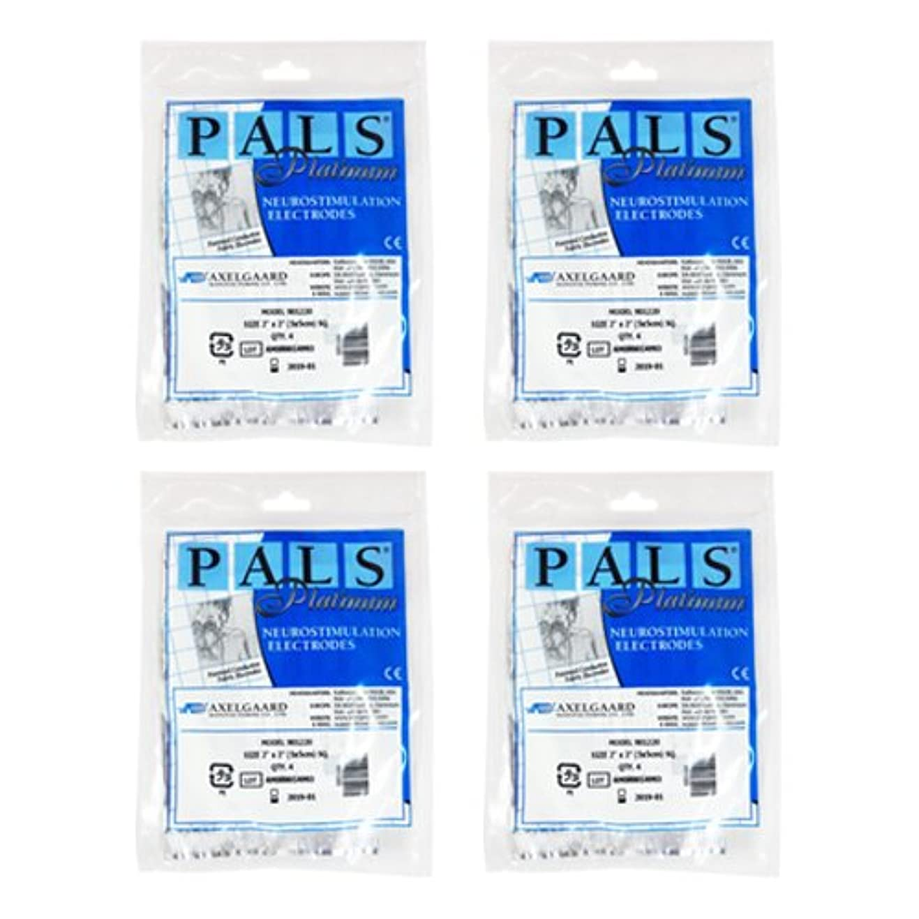 デコレーション和らげる洗剤敏感肌用アクセルガード ブルー Mサイズ × 4セット 【EMS用粘着パッド】