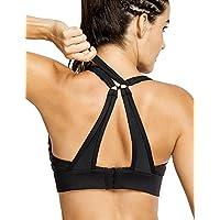 CRZ YOGA Women's High Impact Wirefree Padded Convertible Sport Yoga Bra