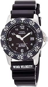 [マリノキャピターノ]MARINO capitano 腕時計 ダイバーズウォッチ 10気圧防水 逆回転防止ベゼル ブラック MC 411-3 メンズ